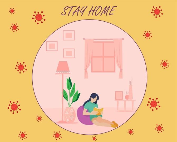 Daheim bleiben!