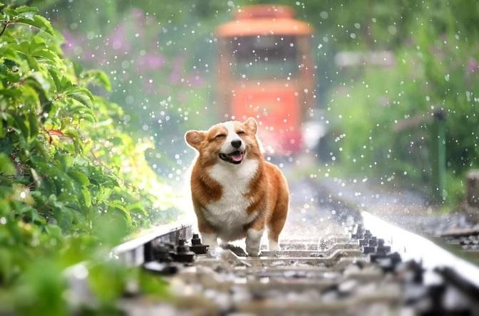 Auch bei Regen: locker bleiben!